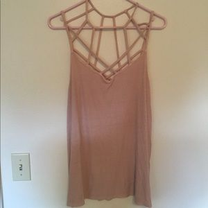 American Eagle blush pink tank top